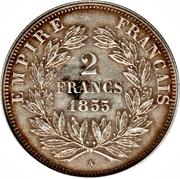 2 francs Napoléon III (tête nue) -  revers