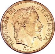 50 Francs  Napoléon III (tête Laurée - Empire français) -  avers