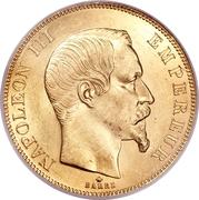 50 francs Napoléon III (tête nue - Empire Français) -  avers