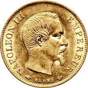 10 francs Napoléon III (tête nue) -  avers
