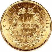 10 francs Napoléon III (tête nue) -  revers