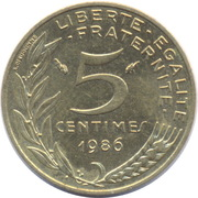 5 centimes Marianne -  revers