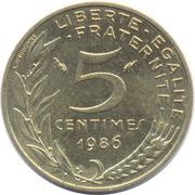 5 centimes Marianne (Cupro-aluminium) -  revers