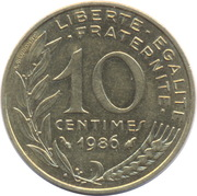 10 centimes Marianne -  revers
