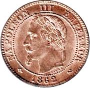 2 centimes Napoléon III (Tête laurée, buste définitif) -  avers