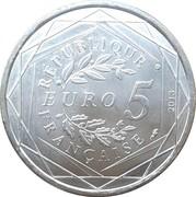 5 euros Fraternité -  revers