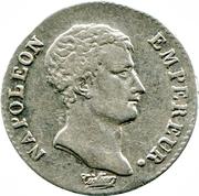 ½ franc Napoléon Empereur (calendrier grégorien) -  avers