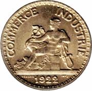 50 centimes Chambres de commerce -  avers