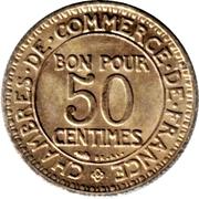 50 centimes Chambres de commerce -  revers