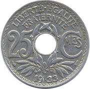 25 centimes Lindauer (cupronickel) -  revers