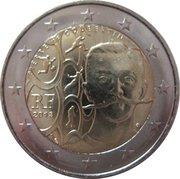 2 euros Pierre de Coubertin -  avers
