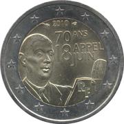 2 euros Appel du 18 Juin 1940 -  avers