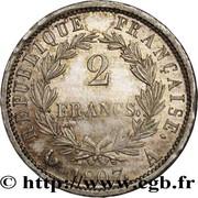 2 francs Napoléon Empereur (tête de nègre) -  revers