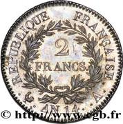 2 francs Napoléon Empereur (calendrier révolutionnaire) -  revers