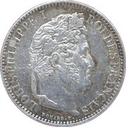 50 centimes Louis Philippe I -  avers