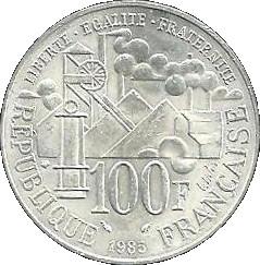 100 Francs Germinal Argent 900 France Numista