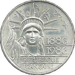 100 Francs Statue De La Liberte Argent 900 France Numista