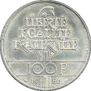 100 francs Statue de la Liberté -  revers