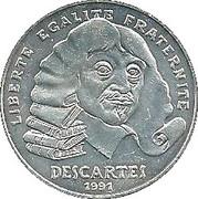 100 francs René Descartes -  avers