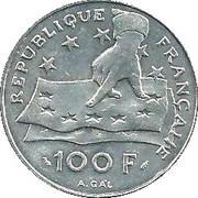 100 francs René Descartes -  revers