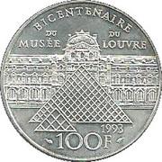 100 francs Liberté guidant le peuple -  revers
