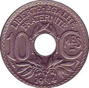 10 centimes Lindauer (nickel, souligné) -  revers