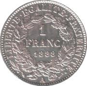 1 franc Cérès (IIIe République) -  revers
