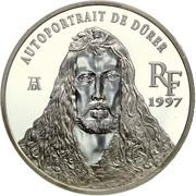 """10 francs / 1½ euros """"Autoportrait à la fourrure"""" d'Albrecht Dürer -  avers"""