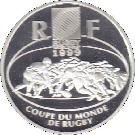 10 francs coupe du monde de rugby 1999 france numista - Coupe du monde rugby 2009 ...