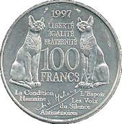100 francs Malraux -  revers