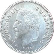 20 centimes Napoléon III (Tête laurée, grand module (16mm)) -  avers