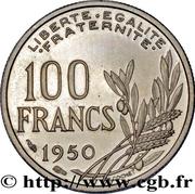 100 francs Cochet (Pré-série 21mm) – revers