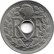 25 centimes Lindauer (Non souligné, cupronickel) -  avers