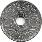 25 centimes Lindauer (Non souligné, cupronickel) -  revers