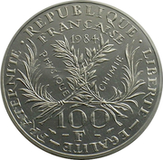 100 francs Marie-Curie (Pied-fort platine) -  avers