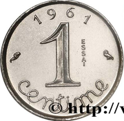 1 centime Épi (Essai-piéfort en acier) -  avers