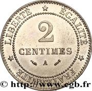 2 centimes Cérès (Epreuve en maillechort) -  avers
