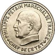 5 francs Pétain (Essai en bronze nickelé de Bazor, type 1) -  avers