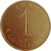 1 centime Épi (Essai grand module en bronze) – revers