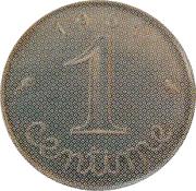 1 centime Épi (Epreuve uniface en argent) – revers
