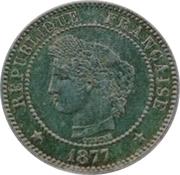2 centimes Cérès (Epreuve en argent) -  avers
