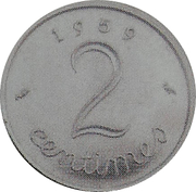 2 centimes Epi (Epreuve en cupronickel, grand module) -  avers