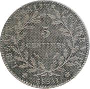 5 centimes Dupré (Essai en maillechort de Dupré) -  avers