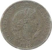 5 centimes (Essai en carton argenté de Merley, type II) -  avers