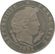 5 centimes (Essai en maillechort de Merley, type II) -  avers