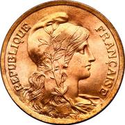 5 centimes Daniel-Dupuis (Pré-série en bronze sur flan brillant) -  avers