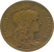 5 centimes Daniel-Dupuis (Piéfort en bronze sur flan mat) -  avers