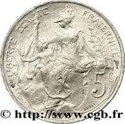 5 centimes Daniel-Dupuis (Essai en aluminium) -  avers