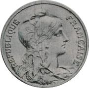 5 centimes Daniel-Dupuis (Essai piéfort en aluminium) -  avers