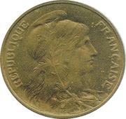 5 centimes Daniel-Dupuis (Epreuve en laiton) -  avers
